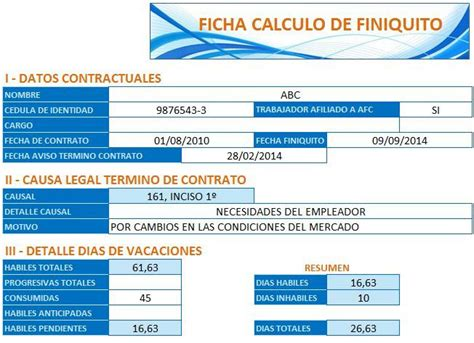 calculadora de finiquitos 2016 en excel calculadora de liquidaciones y finiquitos 2016