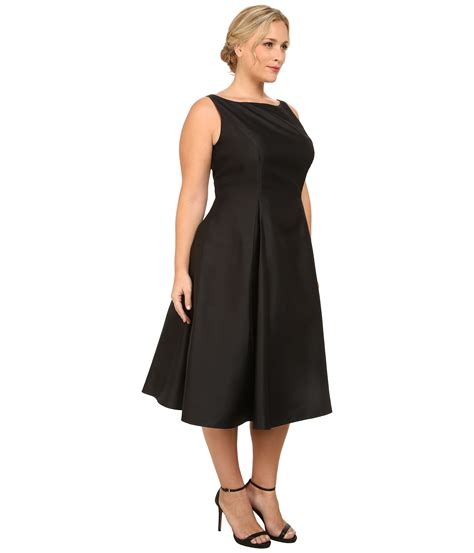 Black Dress Size S lyst papell plus size sleeveless tea length dress in black