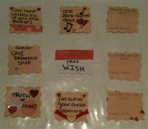 Ideas For Boyfriend Coupons Coupons Made These Tonight For My Boyfriend S