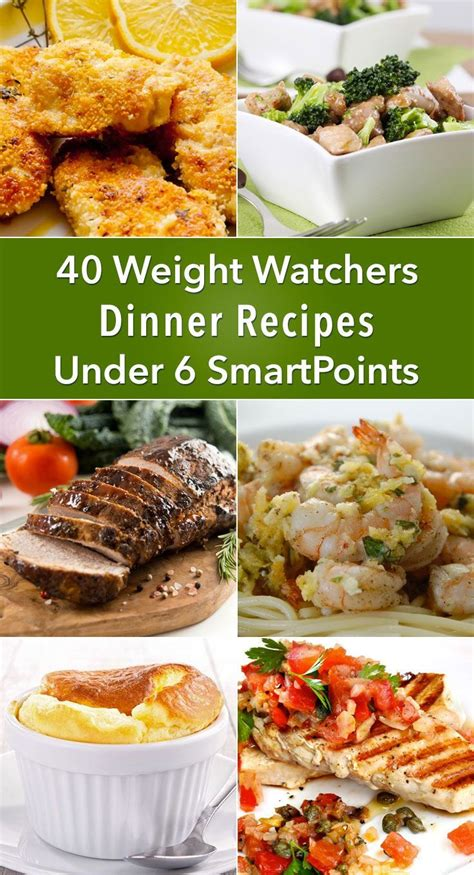 dinner recipes for 6 diet plan to lose weight 40 weight watchers dinner