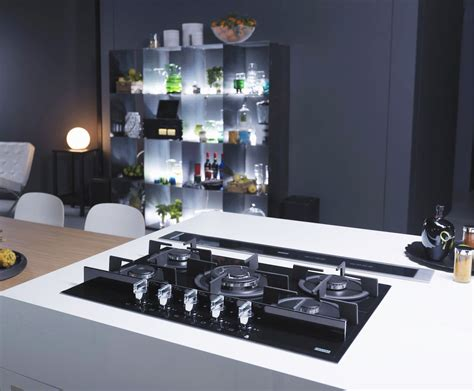 cucina piano cottura piano cottura franke integrazione di ogni elemento in