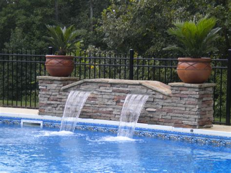 pool fountain ideas sheer descent fountain