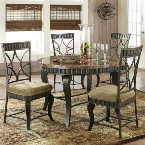 steve silver hamlyn marble top 5 dining table set