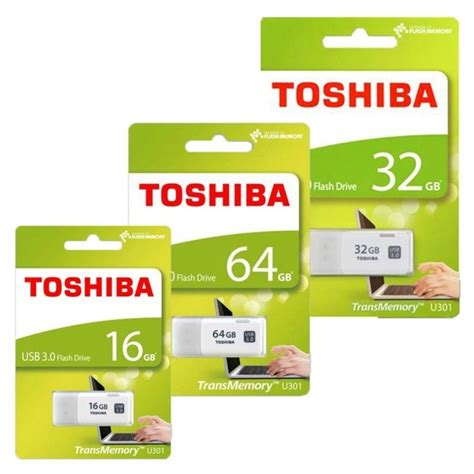Toshiba Usb 30 Flash Drive 16gb Thn U30iw0160c4 toshiba usb 3 0 flash drive 16gb thn u30iw0160c4 white jakartanotebook