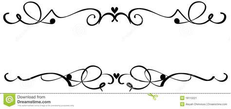 decorative line scroll decorative cliparts