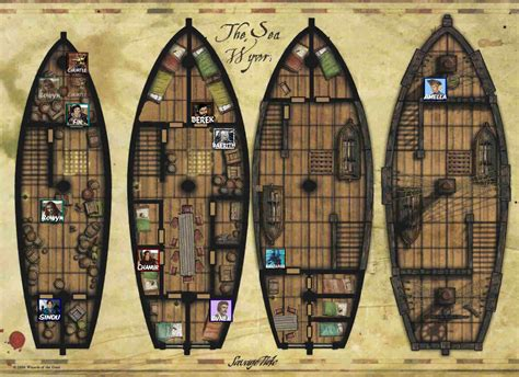 pirate ship floor plan http brennor dyndns org trogdor savage tide combat maps