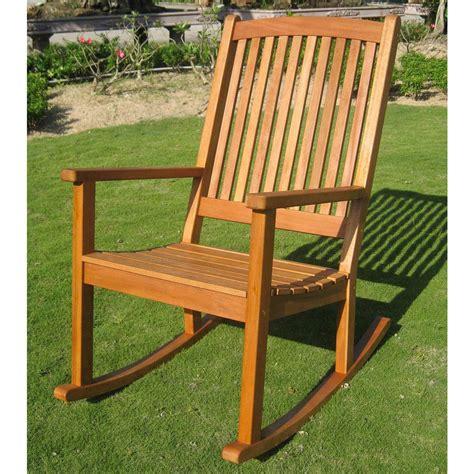 Outdoor Wood Rocking Chair by International Caravan Royal Tahiti Large Outdoor Wood