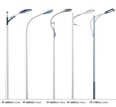 electric street light pole galvanized steel electric pole folding street lighting