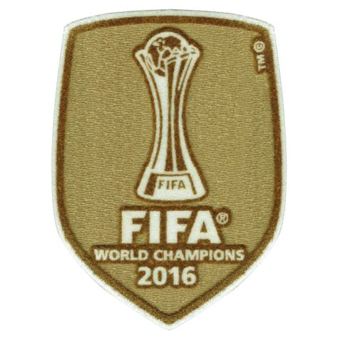 Logo Patch Woven Emblem Club Bola Real Madrid 2016 club world cup chions patch