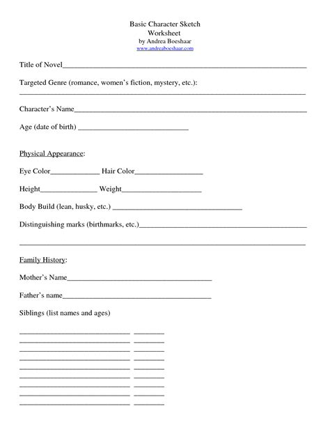 character sketch template character essay forms astutefound ga