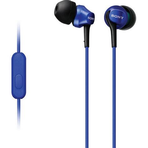 Sony Earphone Mdr Ex150apl Blue sony mdr ex100ap blue in ear headphones with microphone and configurable in line for