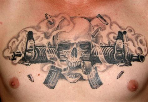 m16 tattoo professional skull tattoos designs m16 skull by pisopez