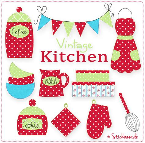 kitchen embroidery designs vintage kitchen 5x7 machine embroidery designs