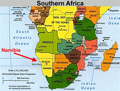 southern africa map route map global adventure