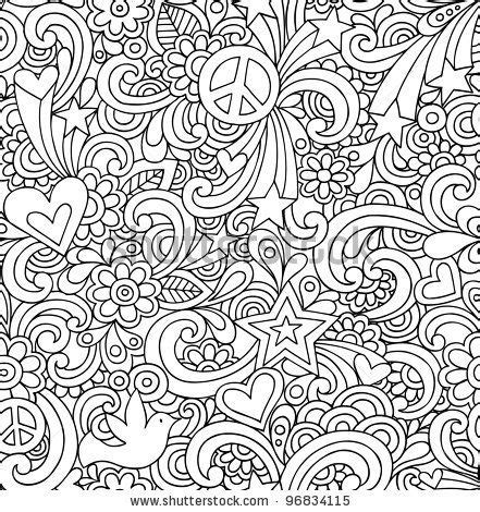 doodle patterns to colour doodle coloring pages seamless pattern psychedelic