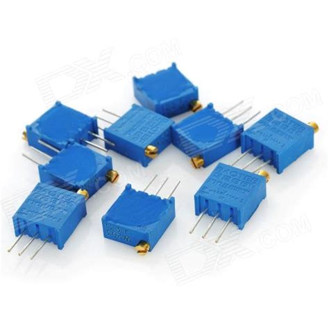 precision variable resistor 3296 high precision 203 20k ohm variable resistor potentiometer trimmers blue 10 pcs free