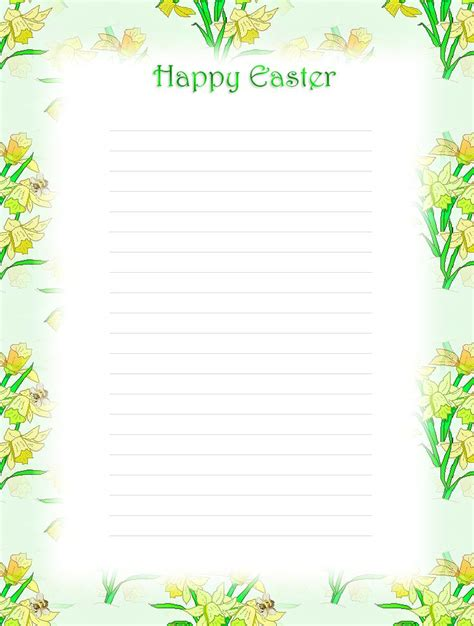 free printable unlined stationery 104 best images about easter stationery on pinterest