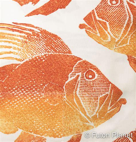 orange futon cover futon planet orange fish futon cover