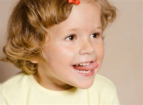 tiny petite small girl with open mouth stock photo image 7461100