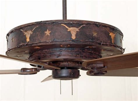 western ceiling fans with lights copper canyon longhorn ceiling fan rustic lighting and fans