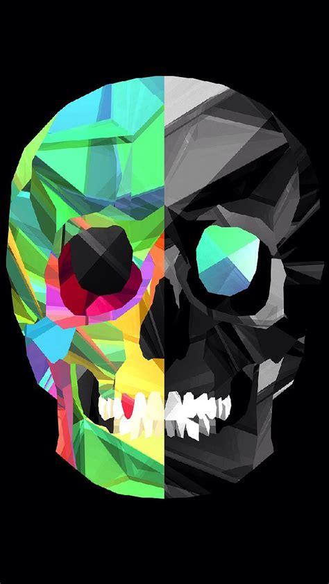 wallpaper hd iphone skull polygon skull iphone 5 wallpaper 640x1136