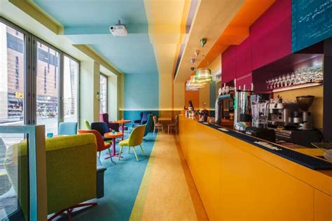 colorful interiors colorful bistro in poland tailored to fit bohemian