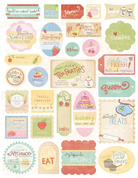 printable recipe labels free printable recipe cards and tags some of these