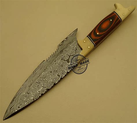 damascus kitchen chef s knife custom handmade damascus