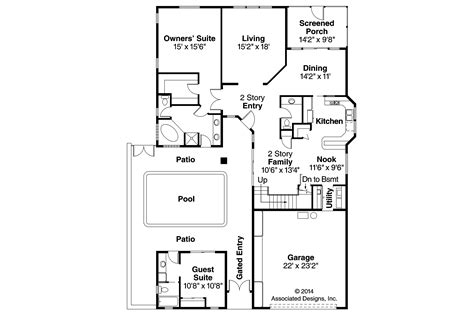 Mediterranean Style Floor Plans by Mediterranean House Plans Coronado 11 029 Associated