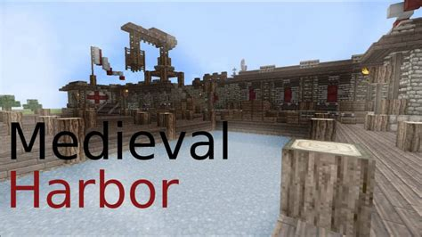 House Blueprints Free minecraft medieval harbor youtube