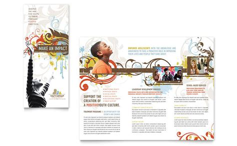 church youth group newsletter template design