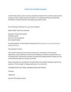 charitable donation cover letter