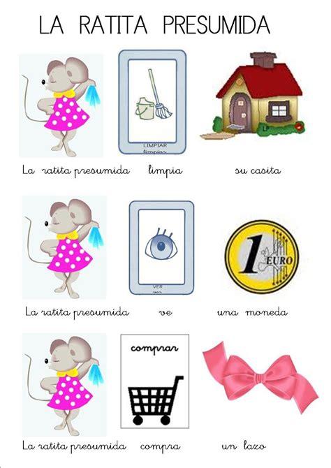libros para niños sordos cuentos infantiles con pictogramas la ratita presumida poesia y cuentos
