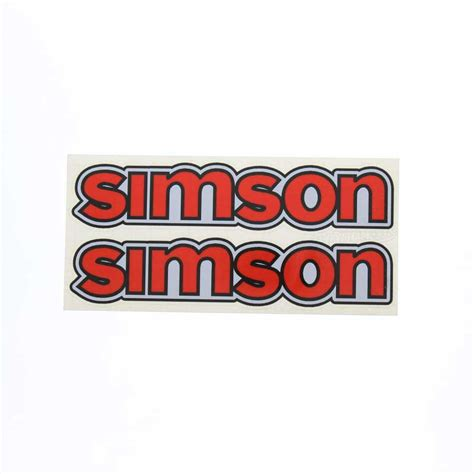 Aufkleber F R Moped by Simson S50 Set Aufkleber Simson F 252 R Tank Rot