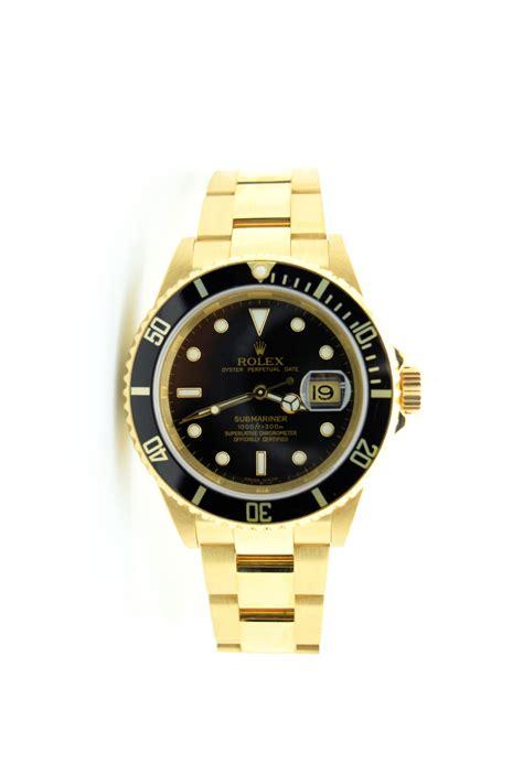 rolex 69 gold rolex 18k yellow gold submariner 16618 black rotating
