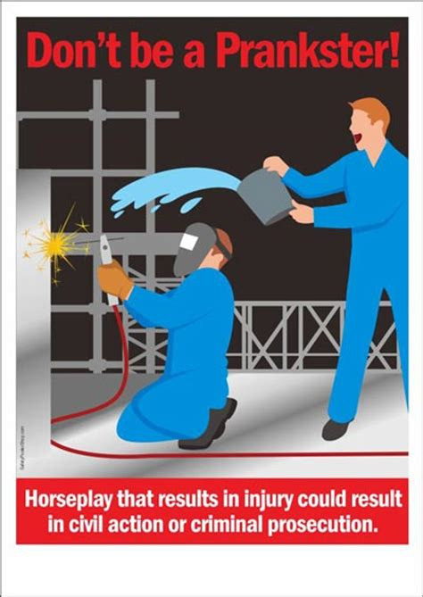 occupational safety poster don t be a prankster safety poster shop