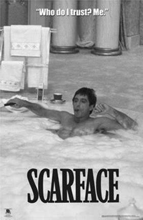 scarface bathtub scarface hot tub bw wall poster by unknown at