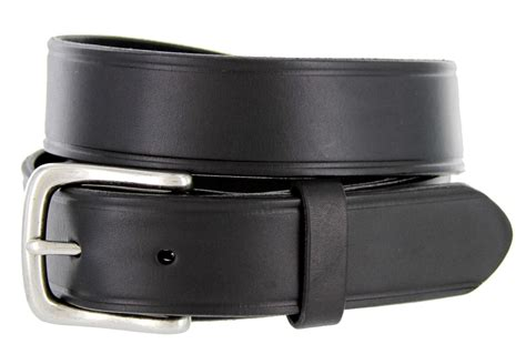 heritage leather dress work belt 1 1 4 quot wide black