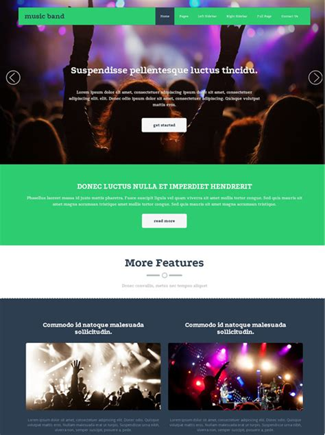 Musical Website Templates by Musical Ensemble Website Template Band Website