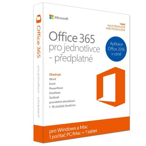 Software Microsoft Office 365 software microsoft office 365 pro jednotlivce cz euronics