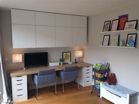 ikea home office home office and kids area besta cabinets alex desk with