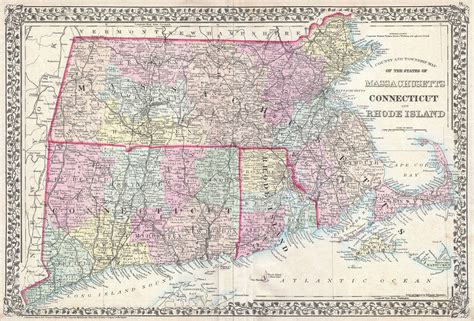 map of ri and ct file 1873 mitchell map of massachusetts connecticut and