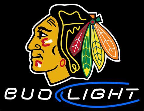 chicago blackhawks neon light custom chicago blackhawks bud light neon sign 1
