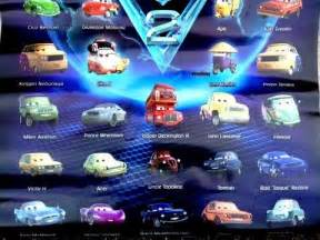Lightning Mcqueen 2 Car Names 20 Characters Of Disney Pixar Car2 Including