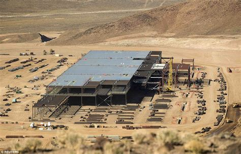 tesla battery factory nevada tesla s new gigafactory near reno captured in hd by drone