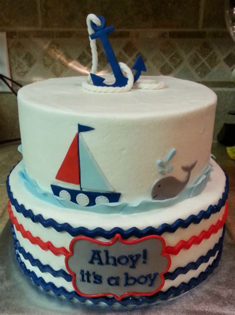 anchor baby shower cake cake dreams nautical baby shower cake