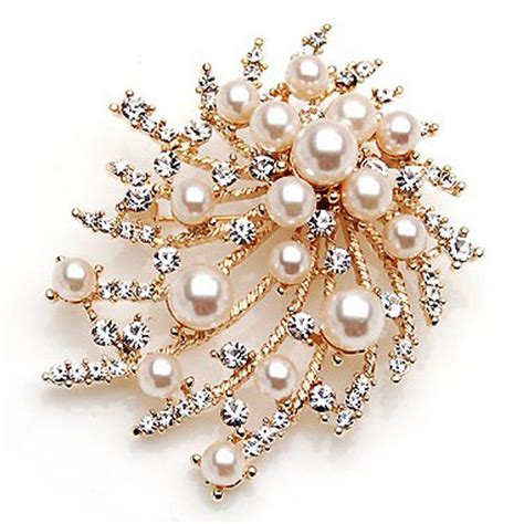 Beautiful Brooches From The Jewellery Stall by Pearl Brooch Alloy Brooch Korean