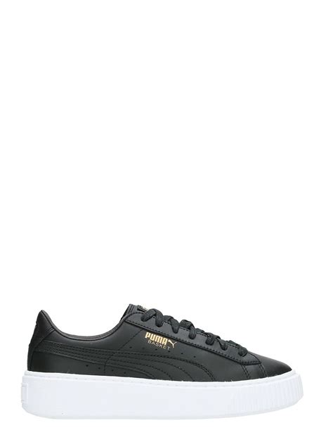 Platform Leather Sneakers basket platform black leather sneakers black