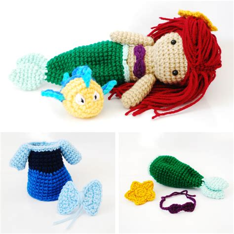 amigurumi ariel pattern ariel the little mermaid crochet amigurumi doll by