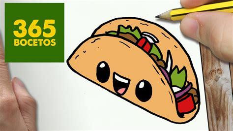 Imagenes De Tacos Kawaii | como dibujar taco kawaii paso a paso dibujos kawaii